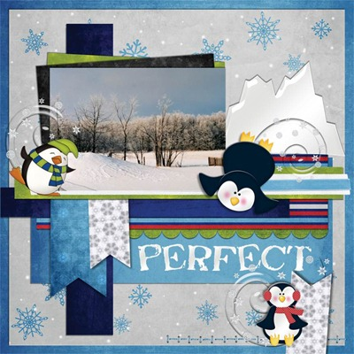 Mommy Me Time Scrapper - Penguin Palooza - Perfect