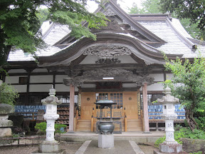 The temple's main entrance, I stayed here 10 days with the other volunteers Anita and Nobuhito...