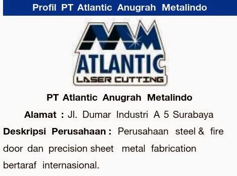 Lowongan PT.Atlantic Anugrah Metalindo | Indonesia Loker