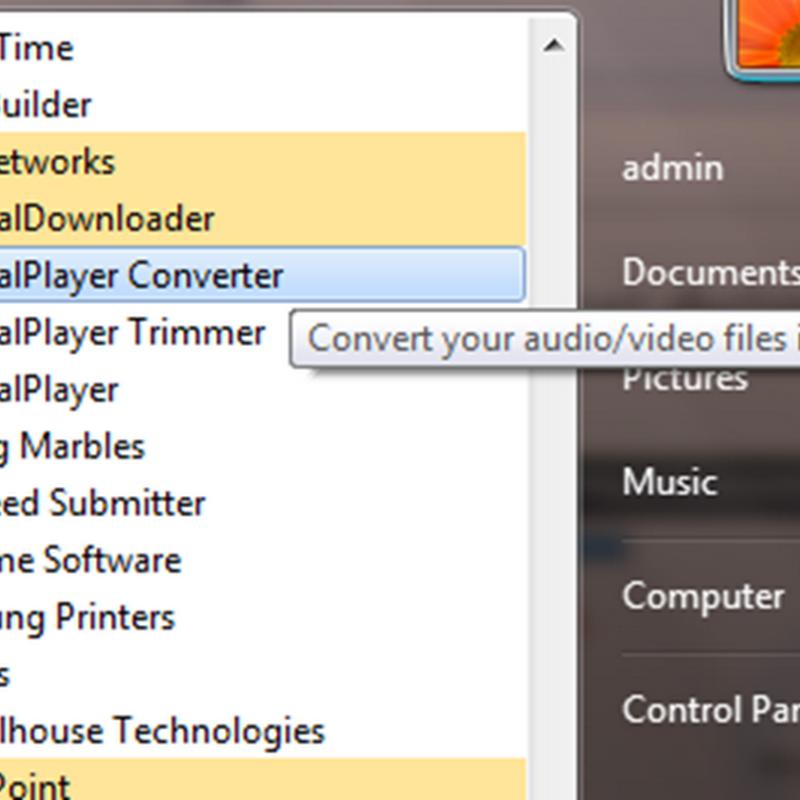 การแปลงไฟล์วีดีโอหรือประเภทไฟล์เสียงให้เหมาะกับอุปกรณ์ด้วย Realplayer