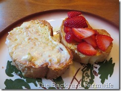 strawberry cream cheese French toast - The Backyard Farmwife