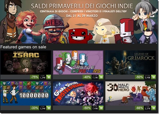 Saldi Indie Steam 2013