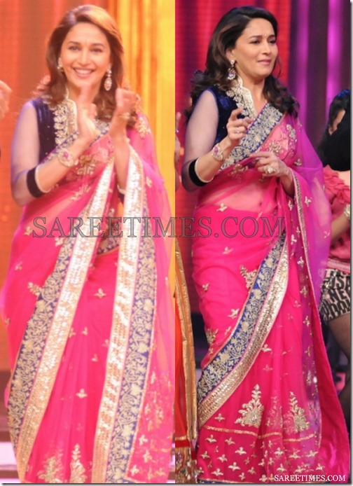 Madhuri_Dixit_Pink_Saree