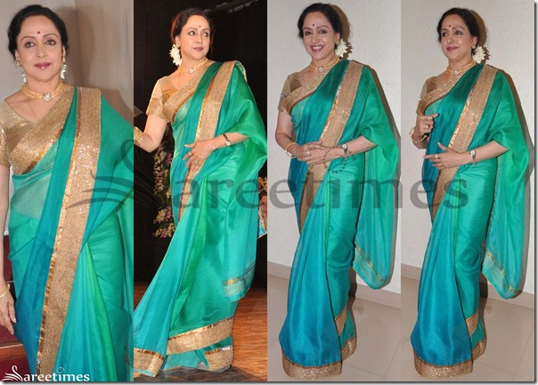 Hema_Malini_Dual_Color_Saree