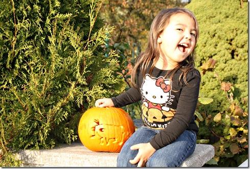 Halloween 2011 Aub and Pumpkin