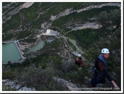 Via Gali-Molero 500m 6b  Ae (V  A1 Oblig) (Roca Regina, Terradets) (Victor) 0115