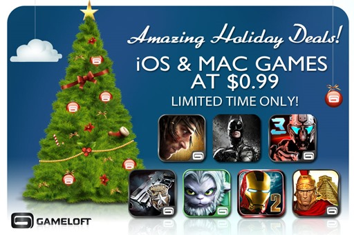 Gameloft Holiday Sale 2012