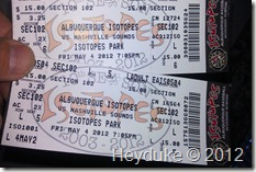 Isotopes tickets