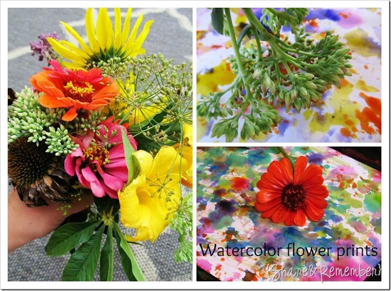 Painting with Flowers Collage