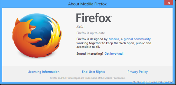 About Firefox 23.0.1