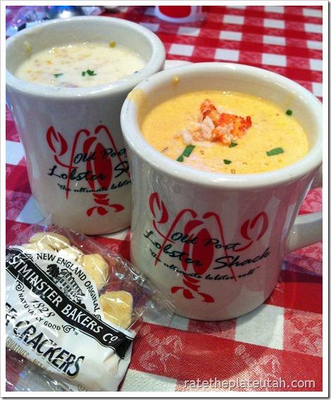 Old Port Lobster Shack Clam Chowder & Lobster Bisque2