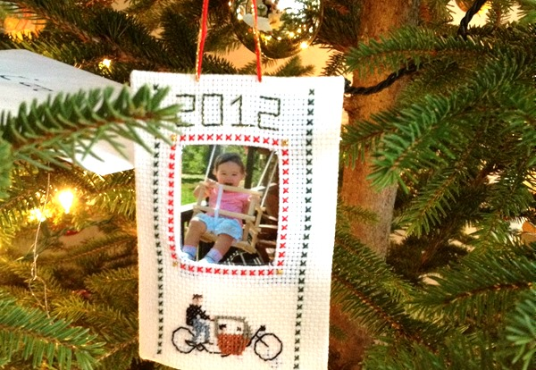 Christmas ornament for 2012 with cargo bike