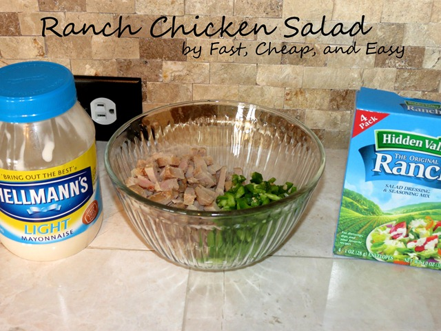 ranch chicken salad fast cheap and easy1