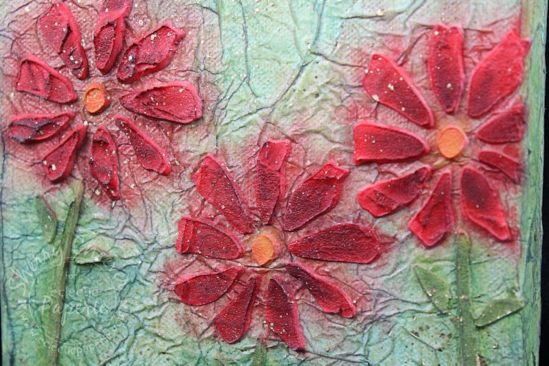 RedFlowerCanvas CloseupTexture