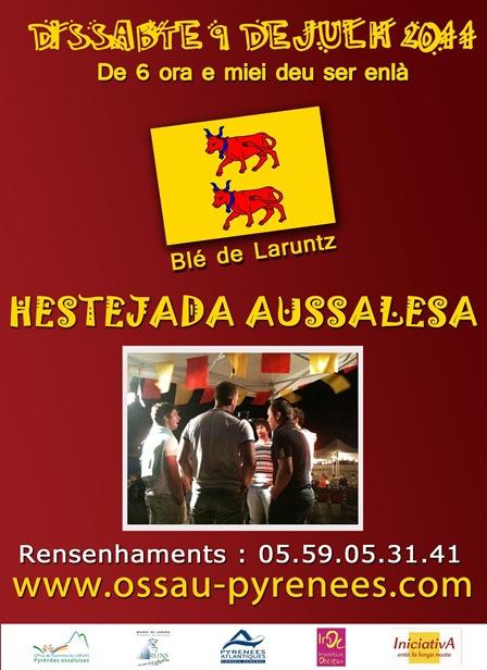 affiche bearnaise HESTEJADA AUSSALESA