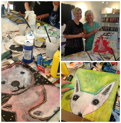 Kunst workshop hos Bettina Holst