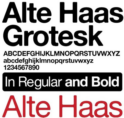 Fuente Alte Haas Grotesk