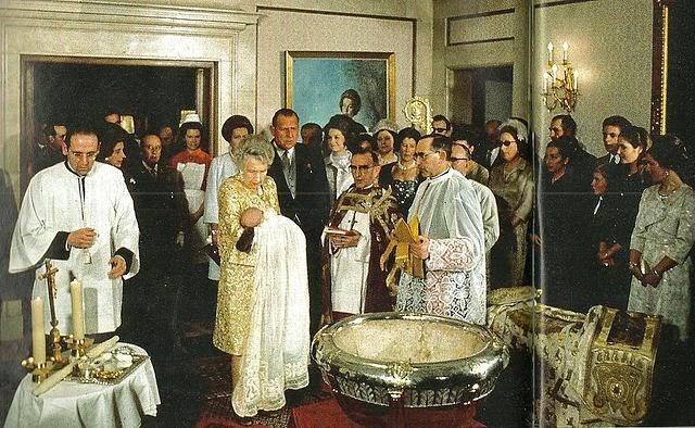 bautizo del Príncipe Felipe de Borbón en 1968.
