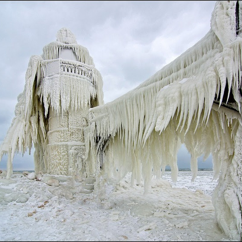 Frozen Lighthouses of Lake Michigan