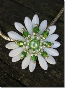 white Green daisy