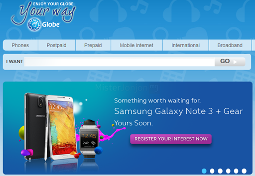 Globe Samsung Galaxy Note 3 Galaxy Gear Bundle Postpaid Plan