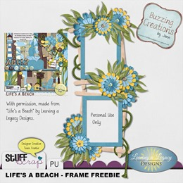 Leaving a Legacy Designs - Life's a Beach - Frame Freebie Preview