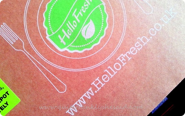 Hello Fresh meal box