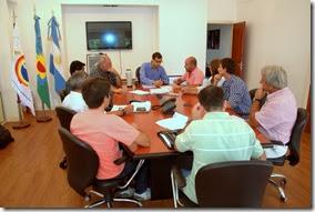 La reunión trató temas de infraestructura