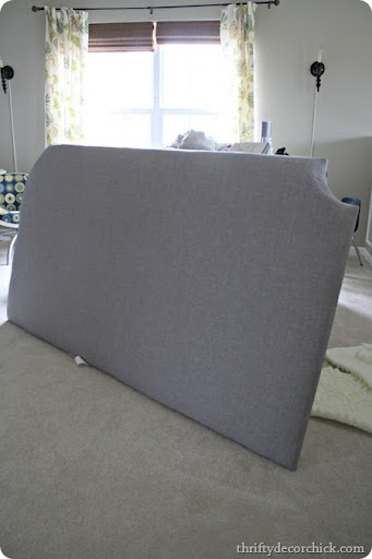 DIY upholstered headboard & How to Make a DIY Tufted Headboard from Thrifty Decor Chick pillowsntoast.com