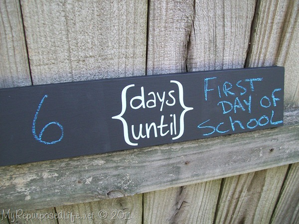 simple chalkboard sign