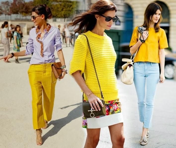 primavera amarelo tendencia moda 2014
