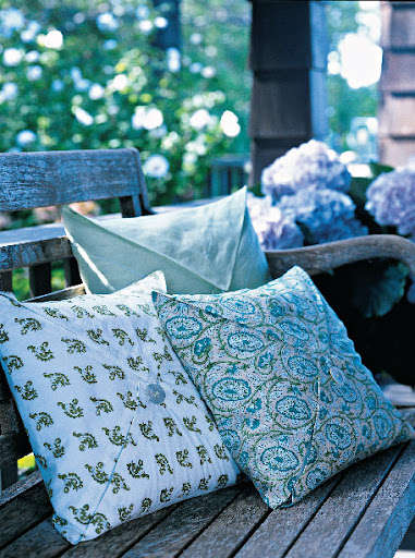 Pillows are a great accent to any space - indoors or out.  They can really make any house feel like a home.