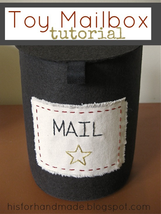 Toy Mailbox Tutorial by H is for Handmade