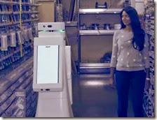 Una donna con un OSHbot