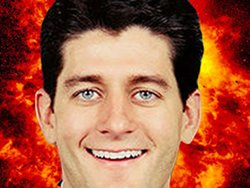 Ryan with background of flames