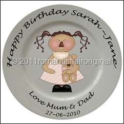 Birthday Plate pink bear
