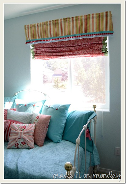 DIY Valance and Roman Shade 3