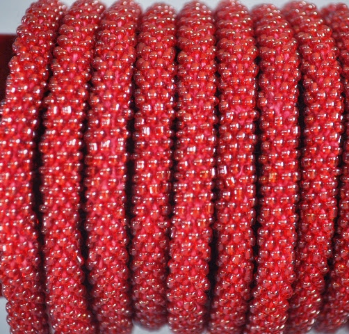 Rollover Red Bead Bracelets