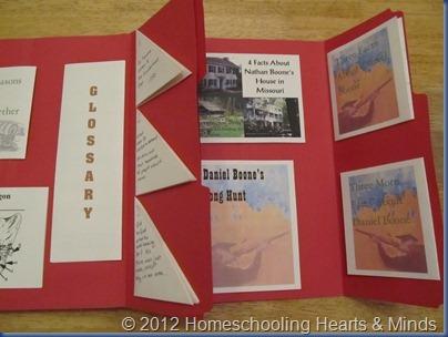 Daniel Boone lapbook