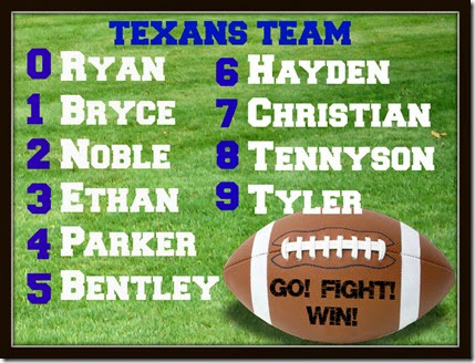 The Johanson Journey- Texans Flag Football