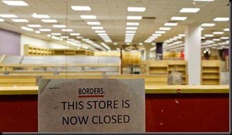 Borders Bookstore Closed