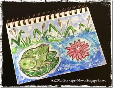 Little froggie in pond