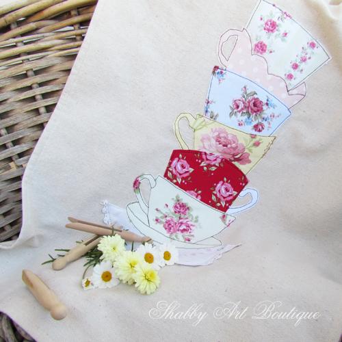 Shabby Art Boutique tea towel 1