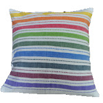 Rainbow pillow, large square