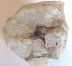 white quartz rock inside