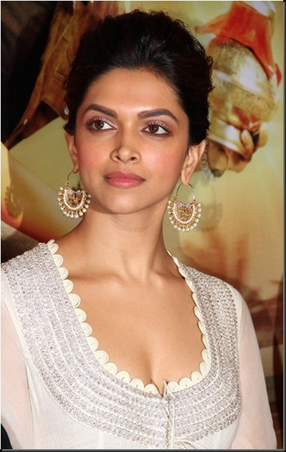 Bollywood actor Deepika Padukone at the first look launch of  her upcoming film Chennai Express in Mumbai, India on June 13, 2013. (Amol Kamble/SOLARIS IMAGES)