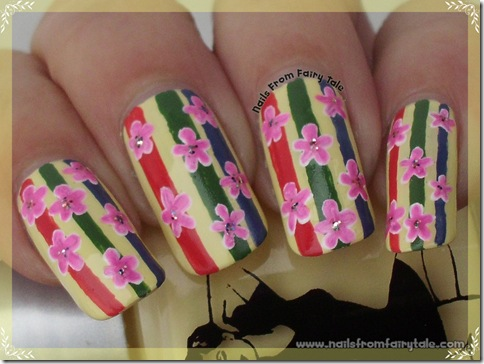 flowers on stripes 2