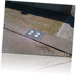 Reflective painted street numbers
