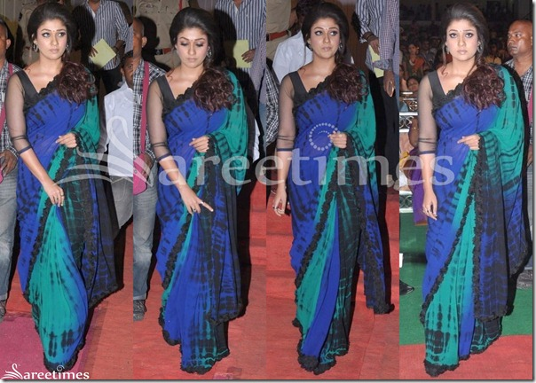 Nayanthara_Tricolor_Georgette_Sari(1)
