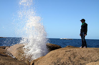Watching the Bicheno blowhole